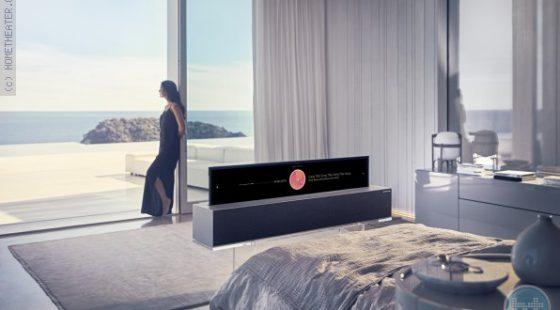 LG משיקה באופן מסחרי את הטלוויזיה הנגללת הראשונה בעולם SIGNATURE OLED R